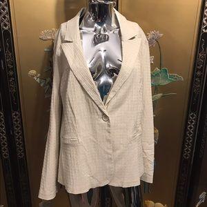 NEW 3X beige lightweight blazer